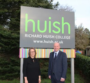 Emma Fielding (Principal) and John Abbott (Chief Executive, Huish Education Group)