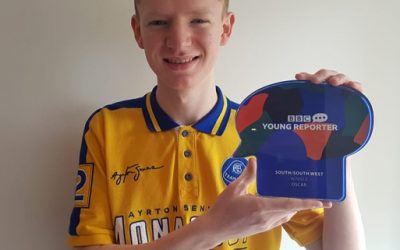 Huish student wins BBC Young Reporter of the Year Award
